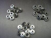 "100 pcs 1//4/"" emblem name plate black thread cutting nuts sealer fits LaSalle"