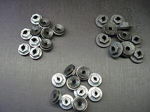 30 pcs thread cutting emblem name plate script nuts sealer assortment fits GM