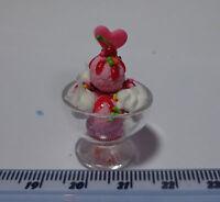 1:12 Scale  Strawberry Ice Cream Sundae Doll house Miniatures, shop