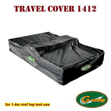 G CAMP BLACK 1.4M TRAVEL COVER ROOF TOP TENT CAMPER TRAILER 4WD 4X4 RACK FREE