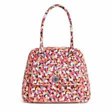 Vera Bradley Pixie Confetti Turnlock Satchel Purse Bag