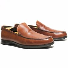 Prada Sport Loafers Brown Leather Patina - Size 7.5 US / 6.5 UK - Made in Italy
