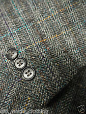 RÖMER Grey / Blue & Orange Multi Check Wool Blend Tweed Jacket 2XL / UK 46 / Reg