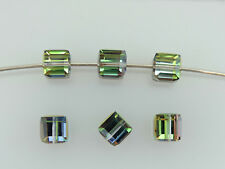 SWAROVSKI® Crystal Cubes,Art.#5601 6mm,Twenty(20)VITRAIL MEDIUM 6mm Square Beads