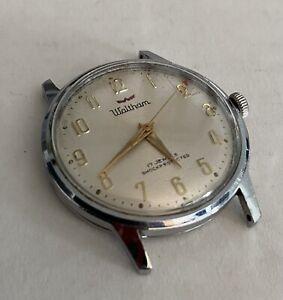 Vintage Waltham 17j Men's Shockprotected Swiss Made Watch ~ RUNS