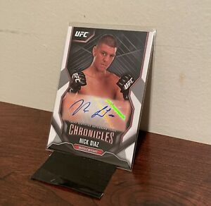 2015 Topps UFC Chronicles Autograph Card NICK DIAZ Autograph! VINTAGE!