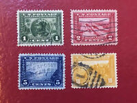 US SCOTT Cat # 397, 398, 399, 400 XF Set of USED Stamps Panama-Pacific FREE S&H