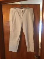 J Crew Stretch Off White CityFit Mid Rise Cotton Casual Pant Womens 14