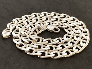 Sterling Silver Mariner, Anchor Link Chain. UK Hallmark,   23.5 inch.