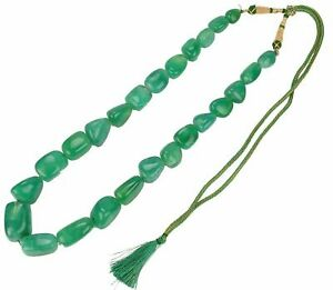 857.80Ct Fancy Shape Cabochon Beaded Necklace In Natural Zambian Green Emerald