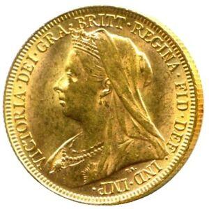 1899 PERTH Queen Victoria WH Gold Sovereign RARE