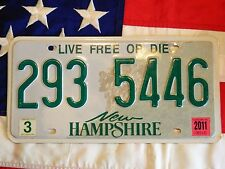 NEW HAMPSHIRE license licence plate plates USA NUMBER AMERICAN REGISTRATION