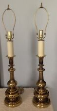 Vintage Brass Candlestick Lamps (2) Lamps