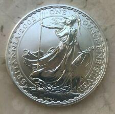 2002 Great Britain Britannia 1 Oz Fine Silver Round - Scarce Date