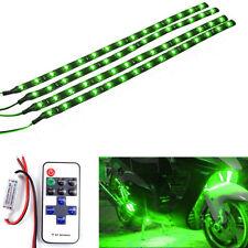 Wireless Waterproof LED Strip Light 30cm 15 LED For Truck / Car/ Suv / Rv green