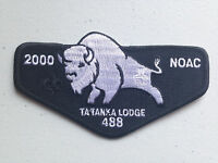 TA TANKA OA LODGE 488 SCOUT SERVICE FLAP PATCH 2000 NOAC DELEGATE BLACK !