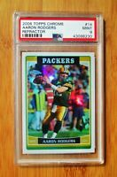 2006 Topps Chrome Refractor #14 AARON RODGERS - PSA 9 MINT