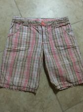 Mossimo Supply Co. Girls Pink And Brown Plaid Shorts Xl