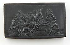 ANCIENNE TABATIÈRE EN CORNE DE BOVIN DERNIERS MOMENTS DU DUC D'ORLÉANS 1842