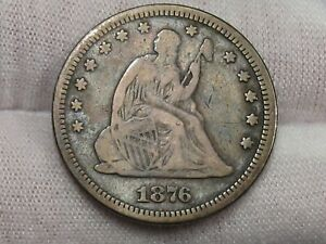 1876 Seated LIBERTY Quarter. #40