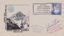 1983 Nepal German American Mt Everest Expedition Signed Cover Gerhard Lenser