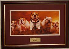 Mississippi State Bulldogs football framed print by Greg Gamble
