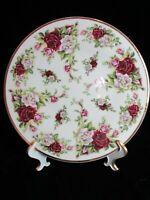 FORMALITIES BY BAUM BROS VICTORIAN ROSE FINE BOHEMIAN PORCELAIN DINNER PLATE