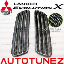 Carbon Fiber Bonnet Hood Air Vent For Mitsubishi Lancer Evolution EVO X 10 CZ4A