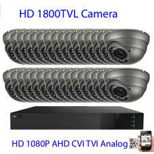 32Ch 1080P TVI 2MP DVR 1800TVL 36IR Varifocal Lens Security Camera System 3gf67