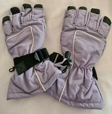 Ski gloves women fleece lined - lilac  (matching jacket & salopettes)
