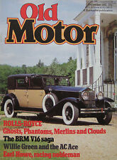 Old Motor magazine 09/1981 featuring BRM V16, AC Ace, Buick, Rolls Royce
