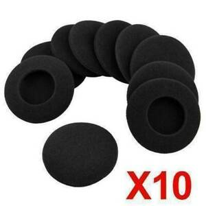 10x 50mm Foam Pads Ear Pad Cushion Sponge Earpads Headphone Headset Covers Caps