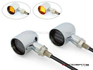 Derby Aluminium LED Indicators - Chrome / Black - Smoked lens
