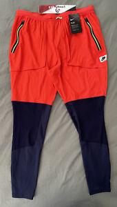 """Nike Wild Run Hybrid Running Pants """"Orange Navy"""" BV5576-498 Men's Size Large"""