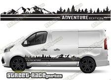 Renault Trafic sides 040 camper van racing stripes graphics ADVENTURE stickers
