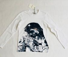 Paul Smith Junior Long Sleeved White Top - 10 Years - Astronaut (100% Cotton)