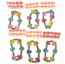 CBB 6 x Mix Children Wood Elastic Bead Bracelets Kids Party Bag Fill Jewelry UK