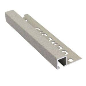 Genesis Square Tile Trim Aluminium Stone Effect  x 2.5m x 5 lengths