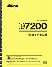 Nikon D7200 Digital Camera OWNER USER'S MANUAL