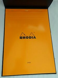Rhodia A4 Notepad With Leather Look Cover - Lined Notepad - Working From Home