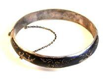 Vintage Siam Sterling Silver Niello Dancing Lady Bracelet