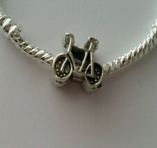 Bicycle Bike Sport Silver Plated Charm Bead Spacer  European Style Bracelets