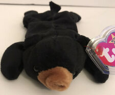 """TY Beanie Baby """"Blackie the Bear"""" 1993 New With Errors"""
