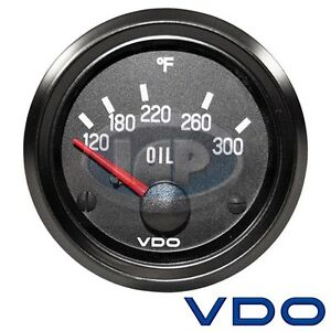 "2-1/16"" VDO 12V COCKPIT OIL TEMP GAUGE 300 DEGREE 310012"