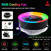 12V Universal Cooler Fan RGB PC CPU LED Fan Cooling Fan For Computer Desktop S!