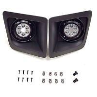 For 2014-2015 GMC Sierra LED Front Bumper Clear Fog Driving Lights Pair w/Bezel