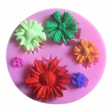 9 Roses Cavity Rose Flower mini Silicone Baking Chocolate / Candy Mold