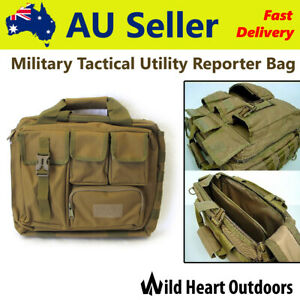 Military Style Tactical Utility Reporter Bag Notebook Case Shoulder Bag Satchel