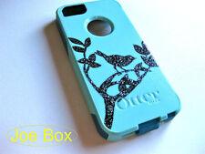 Custom glitter Otterbox Commuter iphone 5s Case Sparkly bird