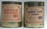 Uncle Johns Ribbon Cane Table Syrup and Sorghum Molasses Sampler in Metal Cans